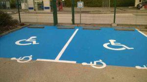 place parking handicapé